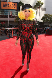 Leave it to Nicki to wear a body-hugging bejeweled onesie to the MTV Movie Awards.