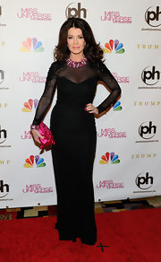 Lisa Vanderpump vamped it up on the red carpet in this beaded mesh number.