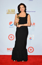 Lana Parrilla's ruffled black evening dress at the NCLR ALMA Awards was a charming number.