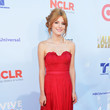 Bella Thorne in Ruched Red