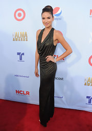Alejandra touted her tiny figure in this glittering gown at the ALMA Awards.
