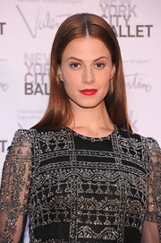 A sleek center-parted 'do finished off Elettra Wiedemann's look in classic style at the 2012 New York City Ballet Fall Gala.