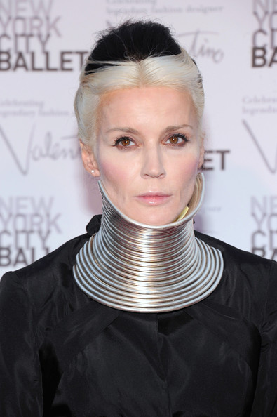 More Pics of Daphne Guinness Evening Dress (4 of 8) - Daphne Guinness Lookbook - StyleBistro [hair,hairstyle,face,blond,neck,chin,beauty,fashion,forehead,black hair,david h. koch theater,new york city,lincoln center,new york city ballet fall gala,daphne guinness]
