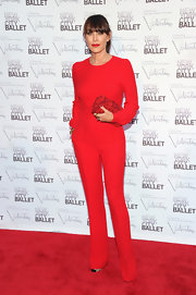 Tamara Mellon was a standout in her red jumpsuit at the NYC Ballet.