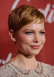 Michelle Williams wore her short pixie haircut with piece-y baby bangs at the 2012 Palm Springs International Film Festival.