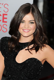 Lucy Hale wore her shiny locks in loose waves at the 2012 People's Choice Awards.