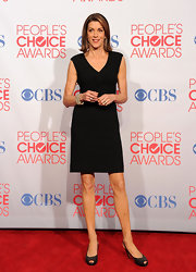 Wendie Malick topped off her LBD with embellished slingbacks.