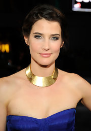 Cobie Smulders wore her long tresses in a chic updo for the 2012 People's Choice Awards.