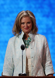 Ann Romney jumped in on the statement necklace trend with this floral design at the Republican National Convention.