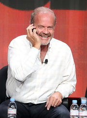 Kelsey Grammer kept it conventional in a patterned white button-down and black jeans at the 2012 Summer TCA Tour.