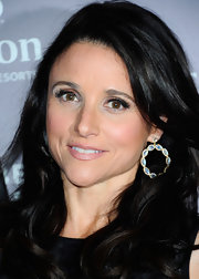 Julia Louis-Dreyfus dressed up her look with a pair of dangling gemstone hoops when she attended the 2012 Tribeca Film Festival.