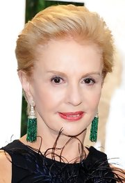 Carolina Herrera wore her hair in her trademark slicked-back style for the 2012 Vanity Fair Oscar party.