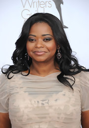 Octavia Spencer wore smoky shades of shadow to create her dramatic eye makeup look at the 2012 Writers Guild Awards.