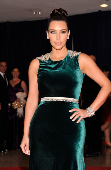 More Pics of Kim Kardashian Braided Bun (1 of 12) - Updos Lookbook - StyleBistro
