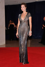 Ivanka Trump was simply dazzling in this Art Deco gunmetal gown at the White House Correspondents' Dinner.
