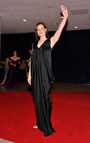Sigourney Weaver looked divine at the White House Correspondents' Dinner in this languid black charmeuse gown.