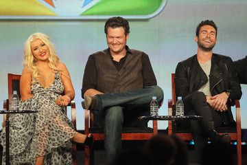 Christina Aguilera Blake Shelton 2012 Winter TCA Tour - Day 3