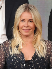Chelsea Handler wore her long flaxen tresses with a casual center part and subtle waves while attending the 2012 Winter TCA Tour.