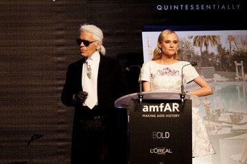 Diane Kruger Karl Lagerfeld 2012 amfAR's Cinema Against AIDS - Show
