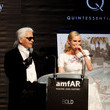 Karl Lagerfeld and Diane Kruger