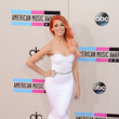 Bonnie McKee in a White Mermaid Dress