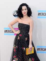 Katy Perry's Olympia Le-Tan book clutch added a quirky touch to her elegant outfit at the American Music Awards.