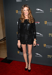 Summer Watson looked party-ready in a sequined LBD during the BAFTA LA Britannia Awards.