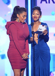 La La Anthony looked oh-so-sophisticated in a long-sleeve mauve cocktail dress when she attended the BET Awards.
