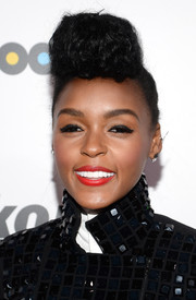 Janelle Monae was ornately coiffed (as usual) with this super-high pompadour at the Billboard Women in Music event.