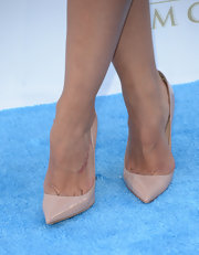 Rocsi Diaz's nude pumps had a totally classic and sophisticated look.