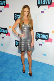 Lydia McLaughlin's silver A-line frock had us loving metallics all over again.