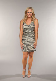 Miranda Lambert wore this silver sequined frock with a cool swirl design at the CMT Music Awards.