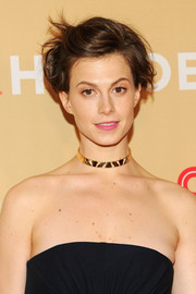 Elettra Wiedemann opted for a messy cut when she attended the CNN Heroes event.