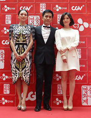 Zhang Ziyi wore this printed kaleidoscopic-print dress to the 2013 Chinese Film Festival.