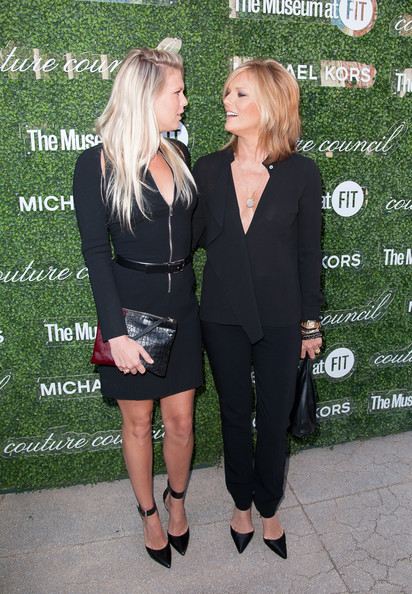 Patti Hansen went for simple sophistication with a pair of black slacks and a low-cut blouse at the Couture Council Fashion Visionary Awards.