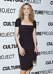 Kyra Sedgwick chose a black and red polka dot frock for her fun and flirty look on the red carpet.