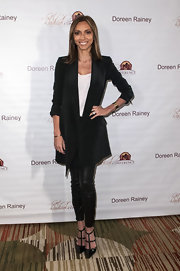 Giuliana Rancic chose a pair of skinny leather pants for her look at the Get Radical Women's Conference.