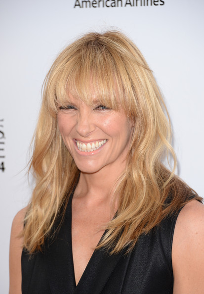 More Pics of Toni Collette Long Wavy Cut with Bangs (1 of 15) - Long Wavy Cut with Bangs Lookbook - StyleBistro