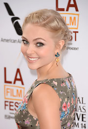 Annasophia Robb looked sweet and pretty with her French braid at the Los Angeles Film Festival premiere of 'The Way, Way Back.'