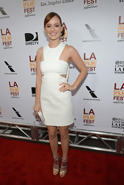 Ahna O'Reilly opted for a cool and crisp cutout dress for her look at the premiere of 'Fruitvale Station.'