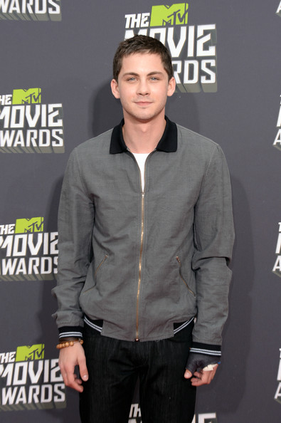 More Pics of Logan Lerman Zip-up Jacket (1 of 3) - Logan Lerman Lookbook - StyleBistro