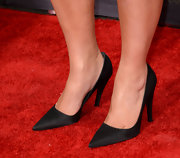 Kim Kardashian kept her red carpet look chic and sophisticated with a pair of classic black pumps.