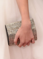 Greer Grammer chose a rectangular bedazzled clutch to top off her red carpet look at the MTV Movie Awards.