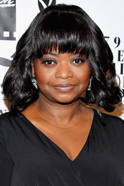 Octavia Spencer sported sculpted curls and blunt bangs when she attended the NY Film Critics Circle Awards.