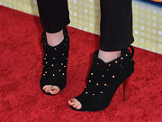Laura chose a pair of studded ankle booties for her cool and edgy look on the red carpet.