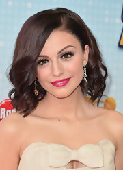 Cher Lloyd curled her short brown locks into this stylish wavy 'do.