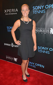 Angelique Kerber went with a fashion staple, a little black dress, at the Sony Open Player Party.