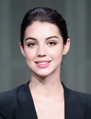 Adelaide's pretty smile looked dewy and fresh thanks to a barely0there lip color.