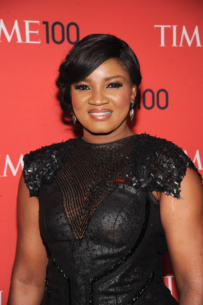 More Pics of Omotola Jalade Ekeinde Bobby Pinned Updo (1 of 2) - Omotola Jalade Ekeinde Lookbook - StyleBistro
