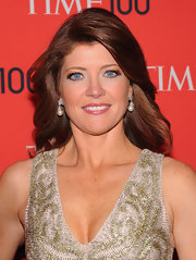 Long thick waves topped off Norah O'Donnell's elegant red carpet look at the Time 100 Gala.
